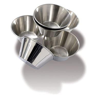 Stainless Steel Flan Mold Stainless Steel. Pack Of 6.  (Matfer Bourgeat)