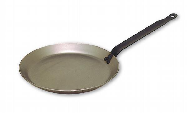 Bourgeat Black Steel Round Crepe Pan With Iron Handle  (Matfer Bourgeat)