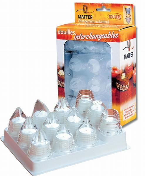Interchangeables pastry tubes - box of 10  (Matfer Bourgeat)