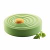 SILIKOMART SILICONE 3D MOLD  VAGUE   7 7/8  in.: Fine and harmonious waves cover this mold characterized by an elegant round motif designed to create vibrant tasty desserts. Suitable both for baking and blast chiller, VAGUE can be combined with