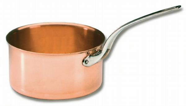 "<img src=""305016-03.jpg?v=1557247410 "" alt=""Bourgeat -Sugar Pan Solid Copper - Stainless Steel Handles  Matfer Bourgeat catalog"">"