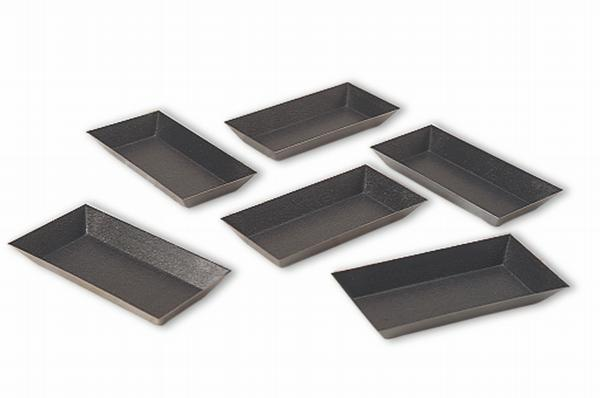 Exopan Steel Non-Stick Rectangular Tart Mold. Pack Of 25.  (Matfer Bourgeat)