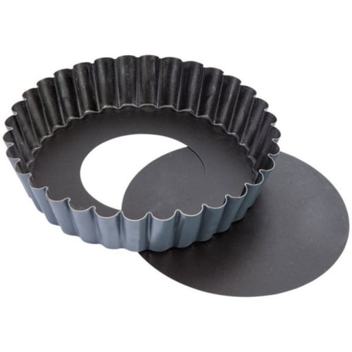 EXOPAN STEEL NON-STICK FLUTED SPONGE CAKE MOLD WITH REMOVABLE BOTTOM  (Matfer Bourgeat)