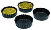 EXOGLASS INDIVIDUAL PIE MOLD - 4 x 1 1/4 ( Plain ) Pack of 12