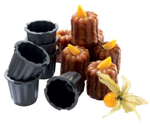 CANNELE NONSTICK ALUMINUM MOLD - PACK OF 6  (Matfer Bourgeat)