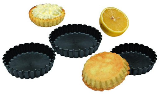 EXOGLASS FLUTED ROUND TARTLET MOLD Pack of 12  (Matfer Bourgeat)