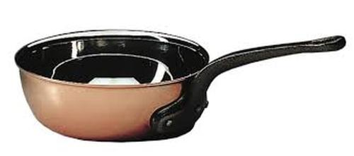 BOURGEAT COPPER FLARED SAUTE PAN WITHOUT LID  (Matfer Bourgeat)