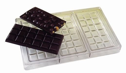 Chocolate bar sheet - three bars - POLYCARBONATE (Matfer Bourgeat)