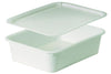 RECTANGULAR DOUGH CONTAINER White 20 7/8 x 16 1/8 x3 1/8 in. 10L/10.5 quarts