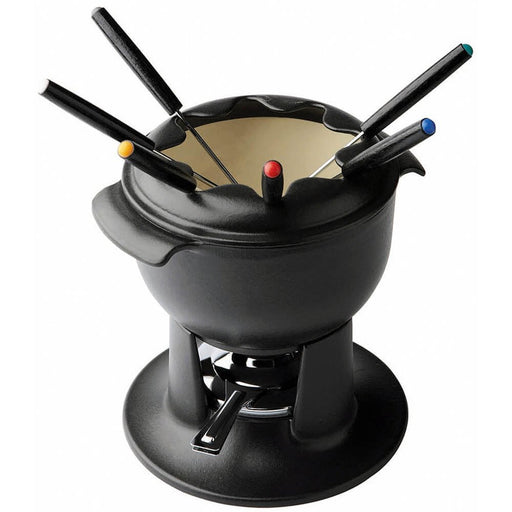 Chasseur Enameled Cast Fondue Set With 6 Forks  (Matfer Bourgeat)