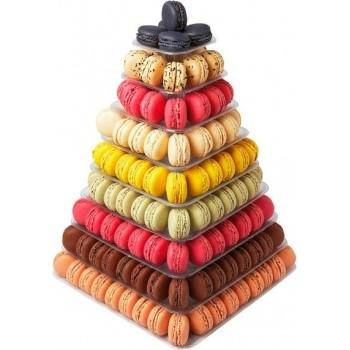 Pyramid Macaroons Display Clear Or Black  (Matfer Bourgeat)