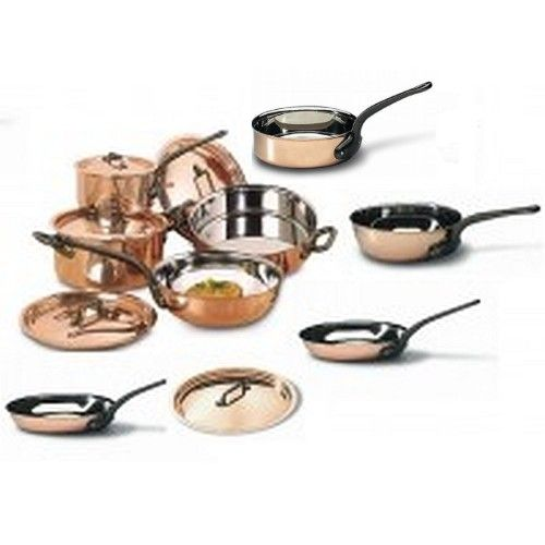 Bourgeat 13 Piece Copper Cookware Set  (Matfer Bourgeat)