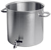 EXCELLENCE stockpot with tap WITHOUT LID: 9 1/2 x 9 1/2 - 11 1/2 QTS.