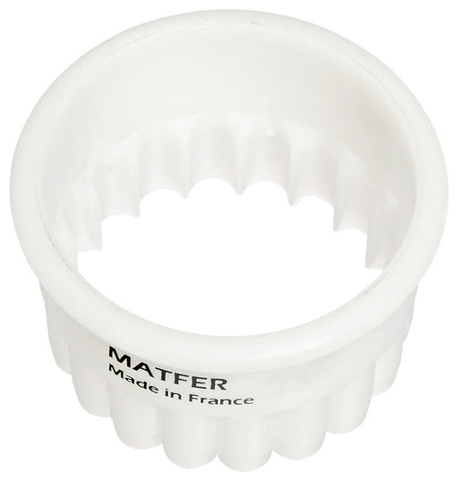 EXOGLASS ROUND FLUTED CUTTER - Sold Individually  (Matfer Bourgeat)