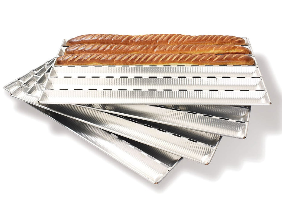 "<img src=""plaque-alu-gaufer650-1-1280.jpg?v=1568830258 "" alt=""French Bread Pan (Bakes 6 Baguettes At A Time)  Matfer Bourgeat catalog"">"