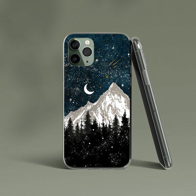 Wanderer Mountain And Moon Phone Case