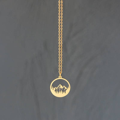 Mountain 18k Gold Plated Necklace