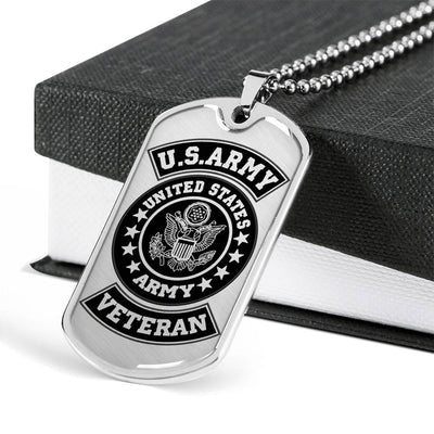 US Veteran Military Premium Metal Dog Tag