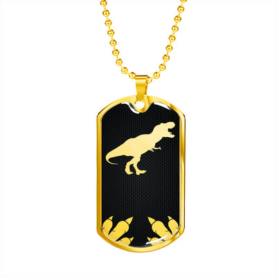 Luxury Metal Dinosaur Dog Tag