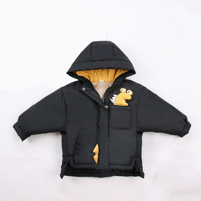Monster Dinosaur Quilted Jacket For Boys 2-8 Years