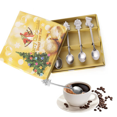 Stainless Steel Christmas Spoons Set