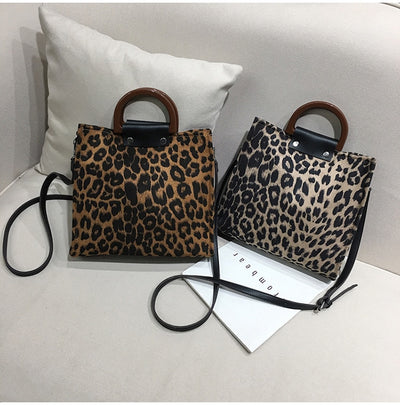 Luxury Leopard Printing Large Capacity Handbag