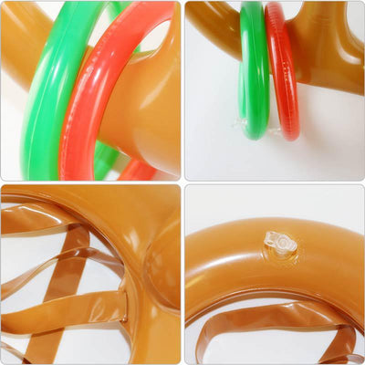 Inflatable Ring Toss Game Reindeer Antler Christmas Game