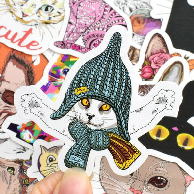 50 Pieces Cute Cats Stickers