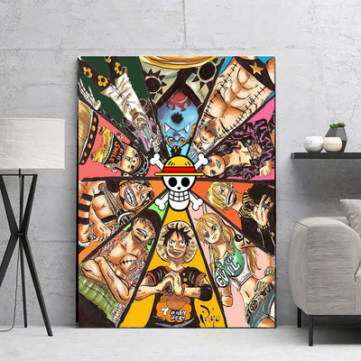 Nordic Style Canvas Anime One Piece Painting