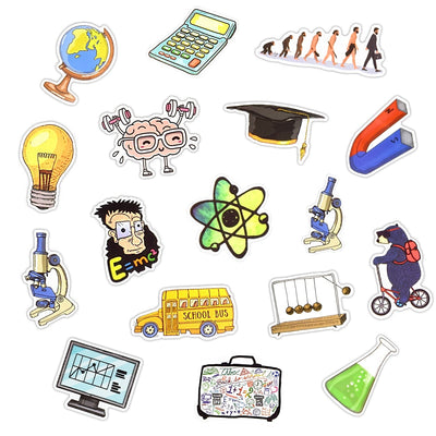 50 Pieces Subject Science Stickers