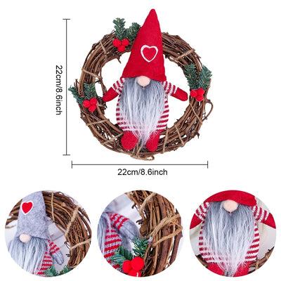 Christmas Gnome Wreath Decoration