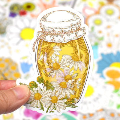 50 Pieces Daisy Flower Stickers