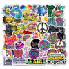 50Pcs/Lot Totem Retro Hippies Stickers