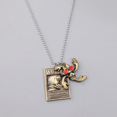 Luffy Wanted Pendant Necklaces