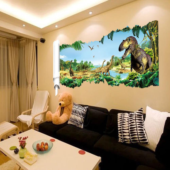 3d dinosaurs picture wall stickers