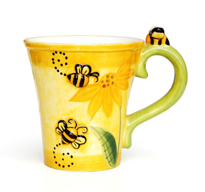 Creative Hand-painted Bee Coffee Cup
