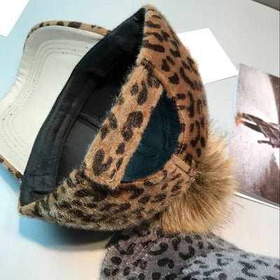 Leopard Wool Hairball Caps