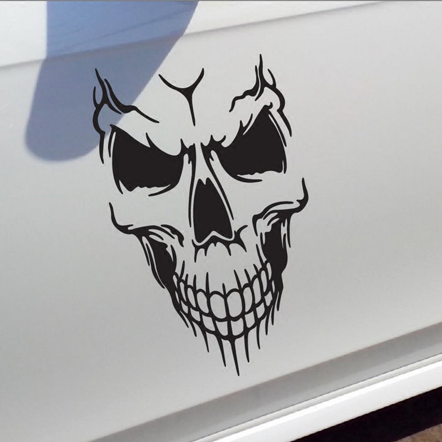 Big Car Stickers Reflective Skull Head