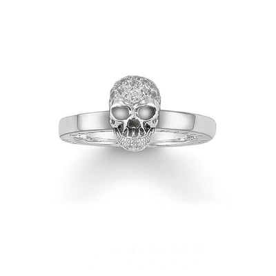 Women Sterling Silver Skull Ring