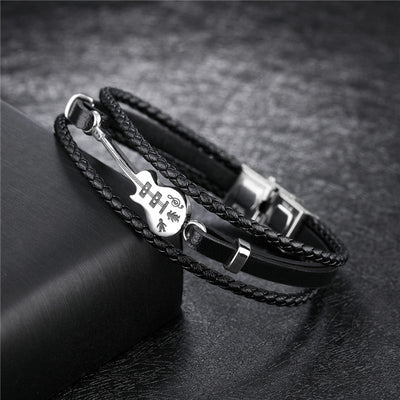Multilayer Genuine Leather Guitar Bracelets