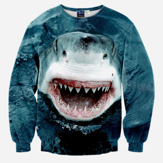 Winter Shark Sweatshirts
