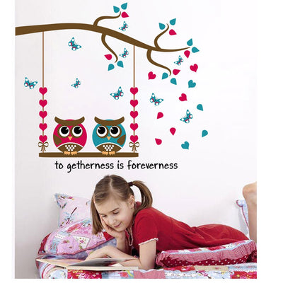 Cartoon Owl Wall Stickers