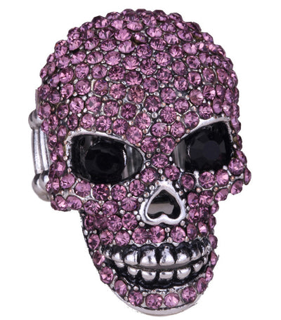 Skull Ring Women Girls Scarf Clasp Biker Gothic Jewelry Gifts
