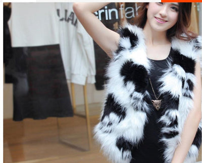 Women Skull Fur Coat