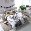 White Skull Bedding Set