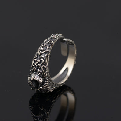 Resizable 925 Sterling Silver Skull Ring