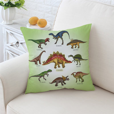 Dinosaur Family Cartoon Pillow Case Cover