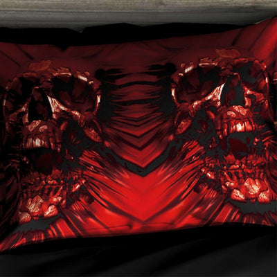 Horrow Red Skull Bed Set