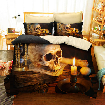 Skull Candle Flame Bedding Set