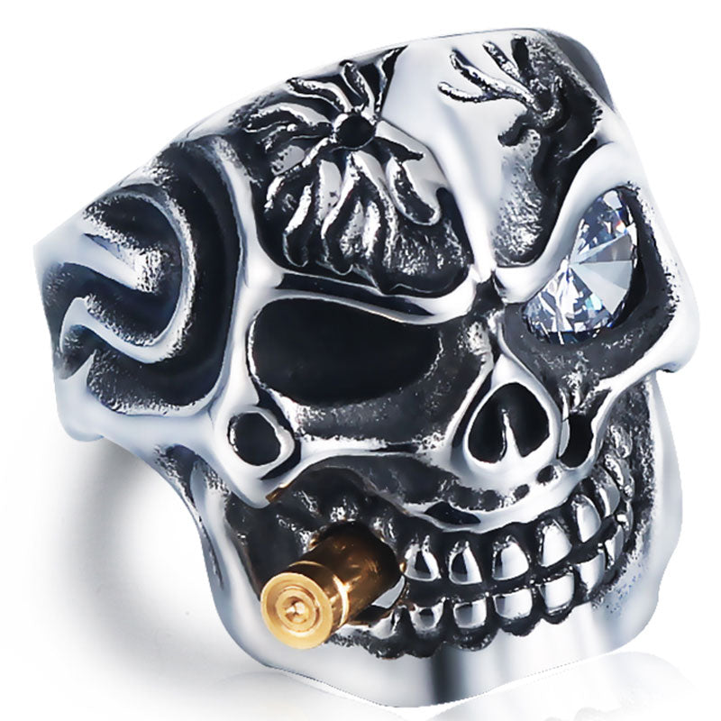 Smoking Skull Rings
